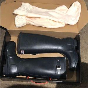 Hunter boots and socks